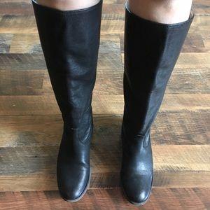 Frye back zip boots